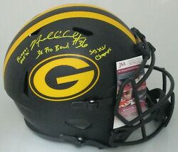 Packers Nick Collins Signed Full Size Eclipse Replica Helmet Auto W/ Scripts Jsa