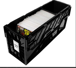 BCW Long Plastic Black Comic Book Acid Free Storage Tote Bin