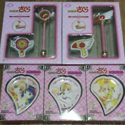 Card Captor Sakura Star Wand Sealed Wand Cane Pen And Sticky Note Set ×2 Plate ×3