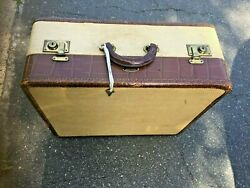 Antique Insured Trunks Indestructo Luggage Carry On 21x 18x 8 With Key Unique