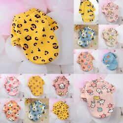Cute Print Small Dog Coats Winter Warm Pet Clothes for Chihuahua Puppy Sweater $4.89
