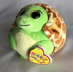Ty Beanie Ballz Zoom The Round Turtle Approx 4 Inches Tall Slight Swing Tag Wear