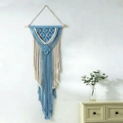 Macrame Hand Woven Wall Hanging Chic Bohemian Tapestry Home Living Room Decor