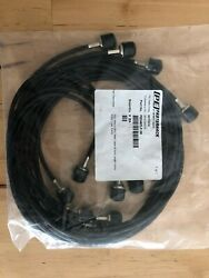 Lot Of 8 Pasternack Pe Pe3497lf-36 Tnc Male To Bnc Male 36 Rg58 Coax Cable Blk