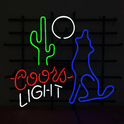 Neon Signs Gift Coors Light Moon Cactus Beer Bar Pub Store Room Decor 24x20