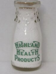 Trphp Milk Bottle Highland Health Products Dairy St Louis Mo Highland Butter Box