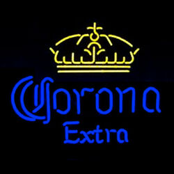 Neon Signs Gift Corona Extra Beer Bar Pub Store Party Room Wall Display 19x15