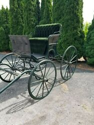 Horse Drawn Buggy With Rumble Seat Refurbished In Nappanee Indiana