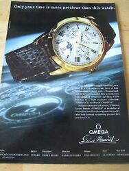 Omega Louis Brandt Watch 1990 Poster Advert Ready Frame A4 Size File W
