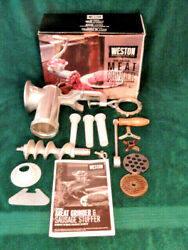 Weston 10 Meat Grinder And Sausage Stuffer - Open Box Never Used -36-1001-w