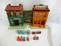 Vintage 1974 Fisher Price 938 Sesame Street Little People Playset Furniture Acce