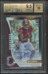 2019 Absolute Terry Mclaurin True 1/1 Auto Rc Black Galaxy Bgs 9.5/10 Rookie