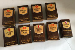 Vintage Crown Colony Spice Boxes, One Tin Lot