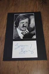 Sonny Bono Signed 8x12 Inch Autograph Matted Inperson Germany Look