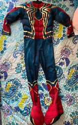 Boys Iron Spiderman Costume Size Small 4 6