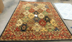 Multi / Burgundy 8and039 X 10and039 Damaged Rug Reduced Price 1172602754 Hg911a-810