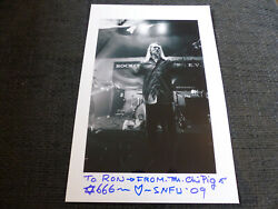 Snfu Mr. Chi Pig Signed 8x12 Autograph Photo Inperson In Germany Look