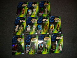 Star Wars The Power Of The Force Lot Of 11 Figures Luke Darth Vadar Chewbacca