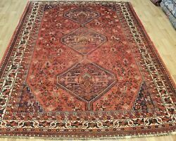 Antique South West Persian Qashqai Tribal Rug 10and0394 X 7 Foot