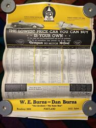30x 1934 Thompson Products Original Vintage Early Auto Advertising Car Posters
