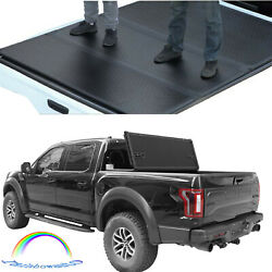 For 2015-2018 Ford F150 Tri-fold Tonneau Cover Lock Hard Solid 5.5ft Short Bed