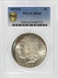 1879-o Morgan Silver Dollar Pcgs Ms65 1 Certified Coin Toned Toning - Jj423
