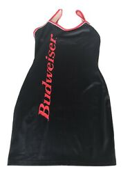 Bud Girl Anheuser Busch Budweiser Beer Mini Dress Size Small Stretchy Excellent