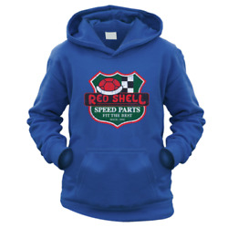 Red Shell Speed Parts Kids Hoodie Pick Colour And Size Gift Present Kart Retro
