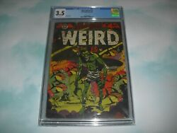 Blue Bolt Weird Tales 114 Cgc 3.5 W/ Ow Pages 1952 Pre Code Horror Lb Cole