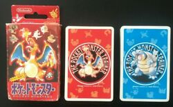 Pokemon Playing Cards Red And Blue Set Nintendo Poker Card 1995 Rare Charizard