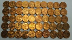 1946-s 1c Cent Lincoln Wheat Full Roll 50 Coins Penny Lot Set Uncirculated Lg266