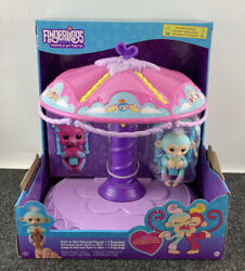 Fingerlings Playset Twirl-a-whirl Carousel With 1 Fingerlings Baby Monkey