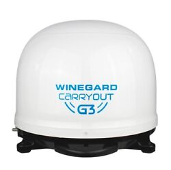 Winegard Gm-9000 Carryout G3 Automatic Portable Satellite Tv Antenna - White New