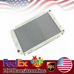 For 79-93 Ford Gt/lx V8 302 Manual Dual Rows Aluminum Cooling Racing Radiator