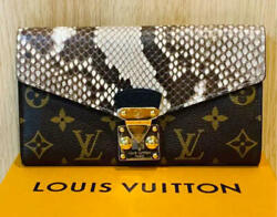 Louis Vuitton Portefeuille Pallas Python Long Wallet N90099 From Japan F/s