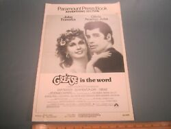 Movie Press Book 1978 Grease Is The Word 24 Pages Ad Pad [z106c]