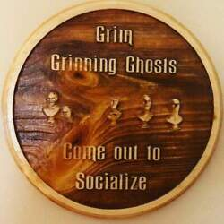 Grim Grinning Ghosts And 999 Happy Haunts - Haunted Mansion Inspired Wooden Plaque