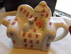 Teapot Tee Nee White Chair Pink Flowers Cat On Cushion Very Cute 1 Cup 1995
