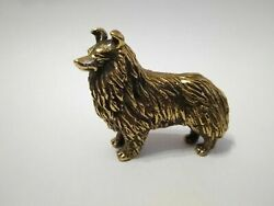 Collie Sheltie dog figurine bronze Collie figurine dog statuette