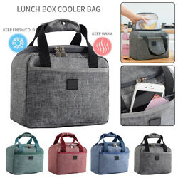 Insulated Lunch Bag High Capacity Cooler Tote Bag for Men Women Adult Waterproof $11.68