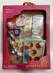 New Nib A Day At The Fair Our Generation 18 Doll Acc American Girl B10-1/3-6v