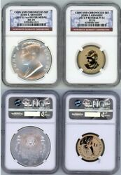 2015 P Jhon F Kennedy Coin And Chronicle Set Ngc Ms70 / Pf 70