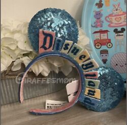 New 2020 Disney Parks Exclusive Disneyland Marquee Sign Ears Headband Authentic