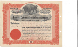 Kansas Co-operative Refining Company.....1907 Common Stock Certificate