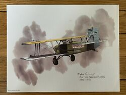 Curtiss Carrier Pigeon 1926-1929 United Airlines 1973 Print Nixon Galloway