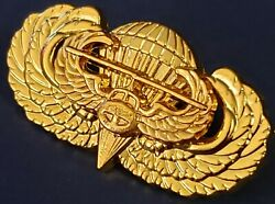 Jump Wing Air Assault Airborne Badge Military Us Army Parachute Gold Pin Medal