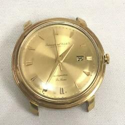 Wristwatch De Luxe Solid Gold 18k Self-winding Face Only Manand039s F/s From Jpn