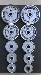 Ivanko Chrome Olympic Plates Vintage Rare Weights M Series Classic Set