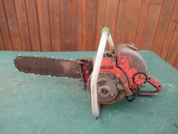 Vintage Homelite Ez Chainsaw Chain Saw With 16 Bar With Log Spike