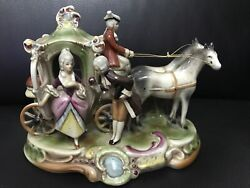 19th Century Grafenthal German Porcelain Couple And Carriage